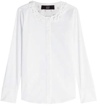 Steffen Schraut Floral Collar Cotton Blouse