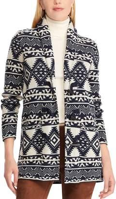 Chaps Petite Southwestern Print Toggle Sweater Jacket