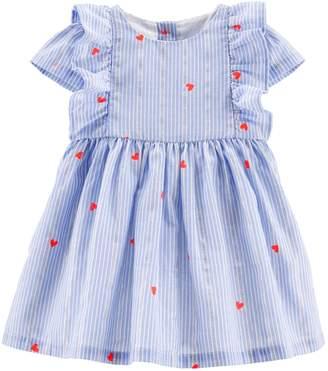 Osh Kosh Oshkosh Bgosh Baby Girl Striped & Heart Lurex Dress