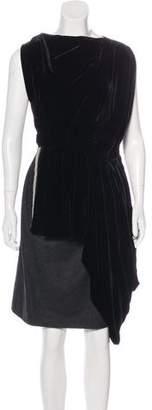 Vionnet Wool & Velvet Dress