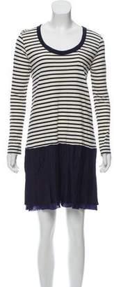 Sacai Luck Stripe Mini Dress