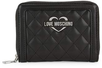Love Moschino Quilted Zip-Around Wallet