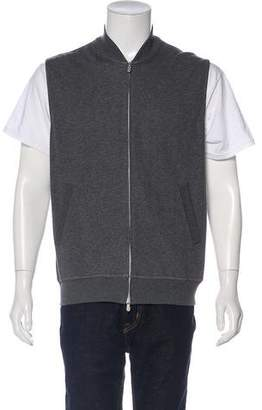 Brunello Cucinelli Woven Zip-Up Vest