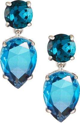 Kenneth Jay Lane Crystal Drop Earrings, Blue