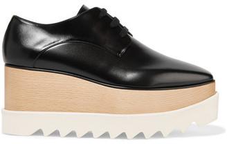 Stella McCartney - Faux Leather Platform Brogues - Black $995 thestylecure.com