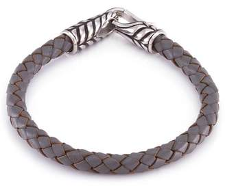 März The Stainless Steel Feather Band Leather Bracelet