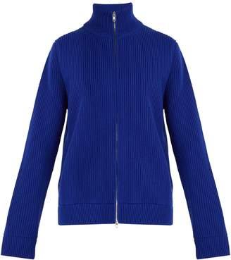Maison Margiela Ribbed wool zip-up sweater