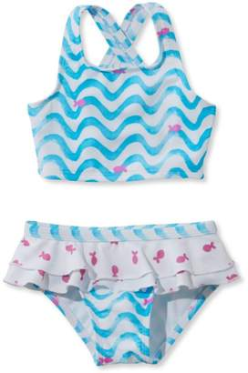 L.L. Bean L.L.Bean Infant and Toddler Girls' Sea Spray Swimsuit, Two-Piece