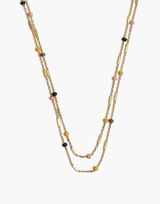 Madewell Layered Beaded Chain Necklace