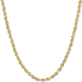 JCPenney FINE JEWELRY Infinite Gold 14K Yellow Gold 18 Glitter Hollow Rope Chain
