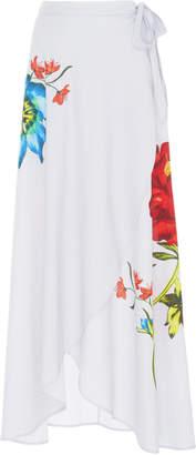 Onia Amanda Floral-Print Wap Skirt