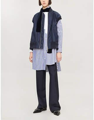 Sacai Striped cotton shirt dress