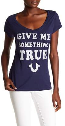 True Religion Give Me Something True Embellished Graphic Tee
