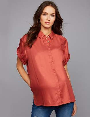 A Pea in the Pod Challis Button Front Maternity Top