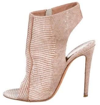 Jean-Michel Cazabat Cutout Peep-Toe Ankle Boots