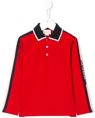 Gucci Kids side panelled polo shirt