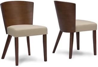 Baxton Studio Sparrow Mid-Century Dining Chair 2-piece Set