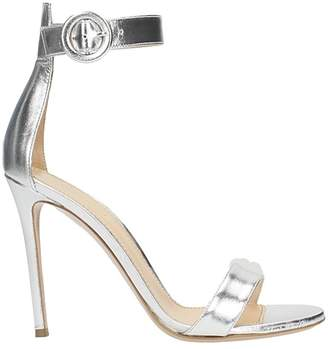 Lerre Metal Silver Leather Sandals