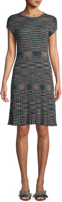 M Missoni Ribbed Space-Dyed Cap-Sleeve Dress