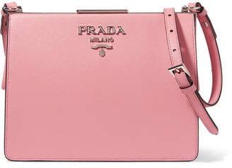 Prada Frame Textured-leather Shoulder Bag - Baby pink