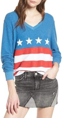 Wildfox Couture Miss America Colorblock Sweatshirt
