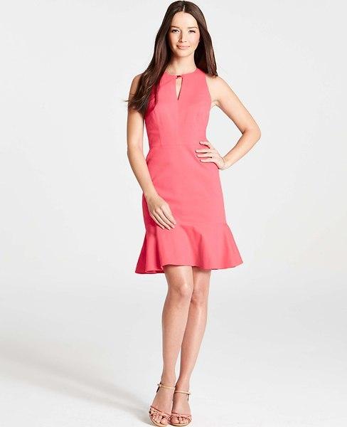Ann Taylor Petite Veranda Flounce Dress
