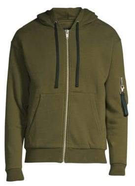 The Kooples Arm Pocket Zip-Front Hoodie