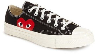 Men's Comme Des Garcons Play X Converse Chuck Taylor Low Top Sneaker $120 thestylecure.com