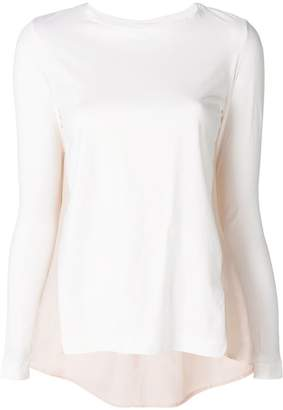 Semi-Couture Semicouture contrast back knitted top