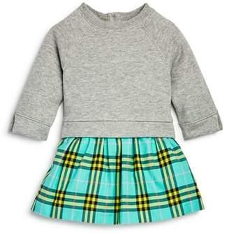 Burberry Girls' Francine Check Skirt Sweatshirt Dress - Baby