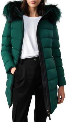 Mackage Calla-X Stretch Genuine Fox Fur Trim Water Repellent Down Coat