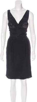 DSQUARED2 Silk Bow-Accented Dress