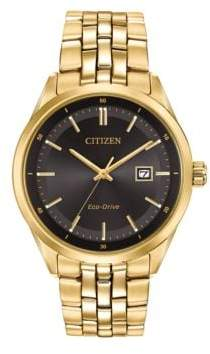 Citizen Eco-Drive Yellow Goldtone Stainless Steel Bracelet Watch, BM7252-51E