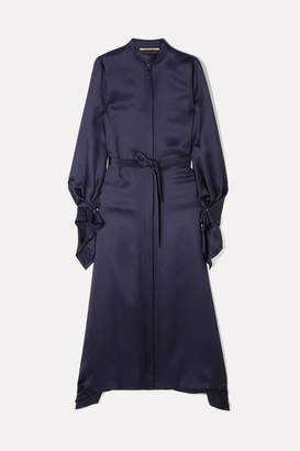 Roland Mouret Alleyne Satin Dress - Navy