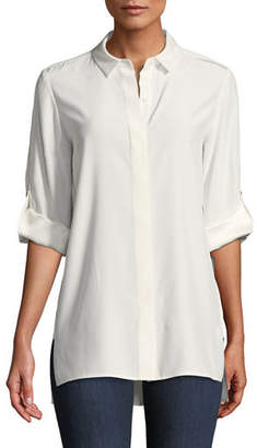 Lafayette 148 New York Jeslyn Matte Silk Blouse, Plus Size