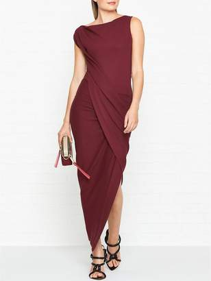 Vivienne Westwood Vian Jersey Drape Dress- Red