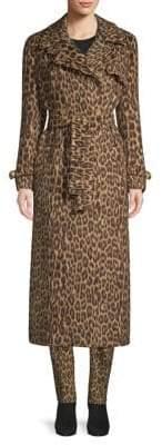 Max Mara Fiacre Camel Leopard Trench Coat