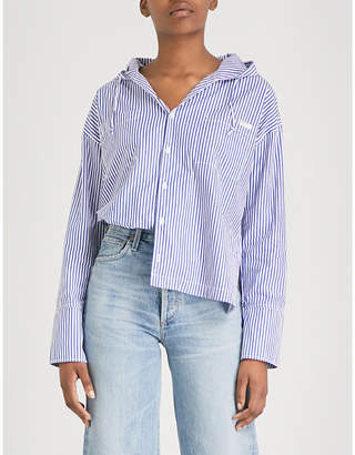 Chocoolate Striped cotton-poplin jacket
