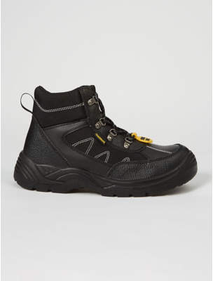 Black Steel Toe Cap Safety Boots