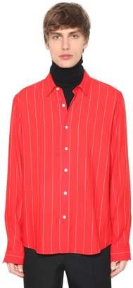 Ami Alexandre Mattiussi Viscose & Virgin Wool Pinstripe Shirt
