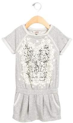 Junior Gaultier Girls' Lace Print Knit Dress w/ Tags