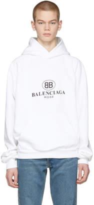 Balenciaga White BB Mode Hoodie