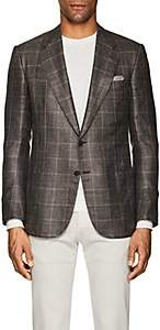 Cifonelli Men's Montecarlo Plaid Silk-Blend Two-Button Sportcoat-Beige, Tan