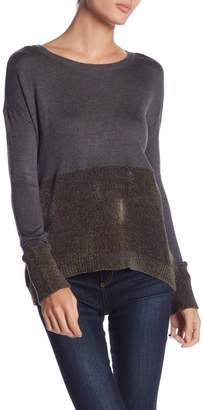 Romeo & Juliet Couture Long Sleeve Mixed Knit Sweater