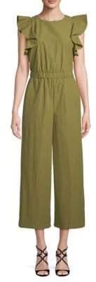 J.o.a. Ruffle-Sleeve Jumpsuit