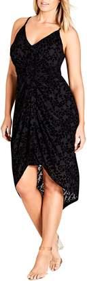 City Chic Mod Drape Dress