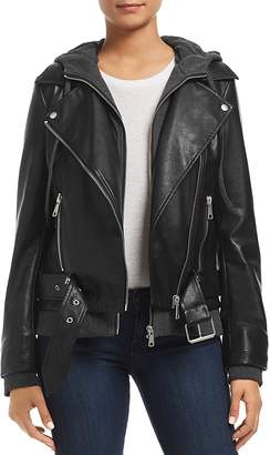 Bagatelle Layered-Look Faux-Leather Moto Jacket - 100% Exclusive