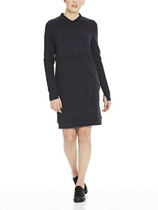 Bench Women's Color Block Sweat Dress Black Beauty Bk11179, X-Small