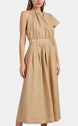 AKIRA NAKA Women's Dita Rope-Halter Linen Dress - Beige, Tan