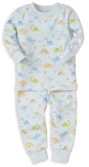 Kissy Kissy Baby Boy's& Little Boy's Dinosaur-Print Pajama Top and Bottom Set